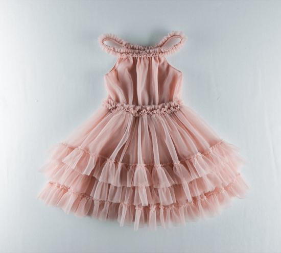 Roimyal Wholesale 2019 Summer European American girl vest dress pink mesh Tutu cake party dress 2