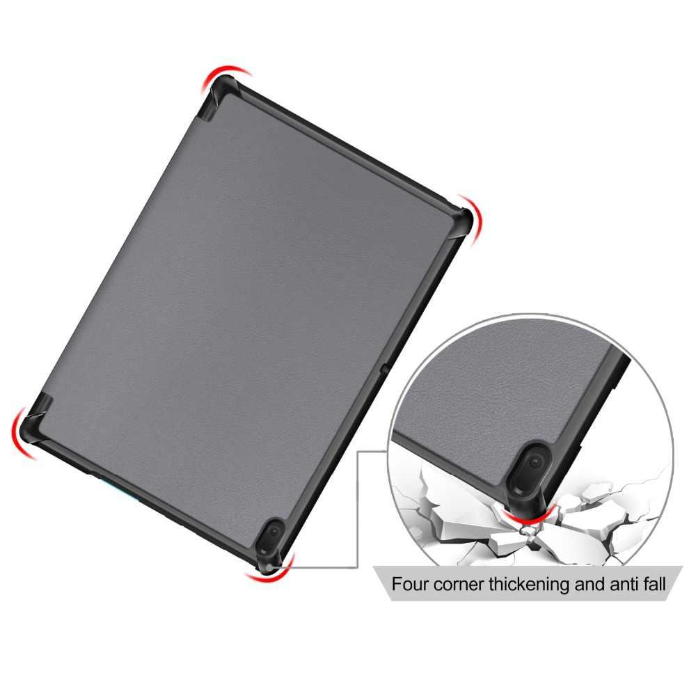 Для lenovo Tab E10 TB-X104F чехол Tri-Fold подставка Магнитная крышка Tab E10 E 10X104 X104f Tablet 2019 TabE10 одноцветное Цвет Shell