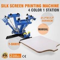 Замечательный DIY Экран кадры четыре Цвет одна станция шелк Экран печатная машина
