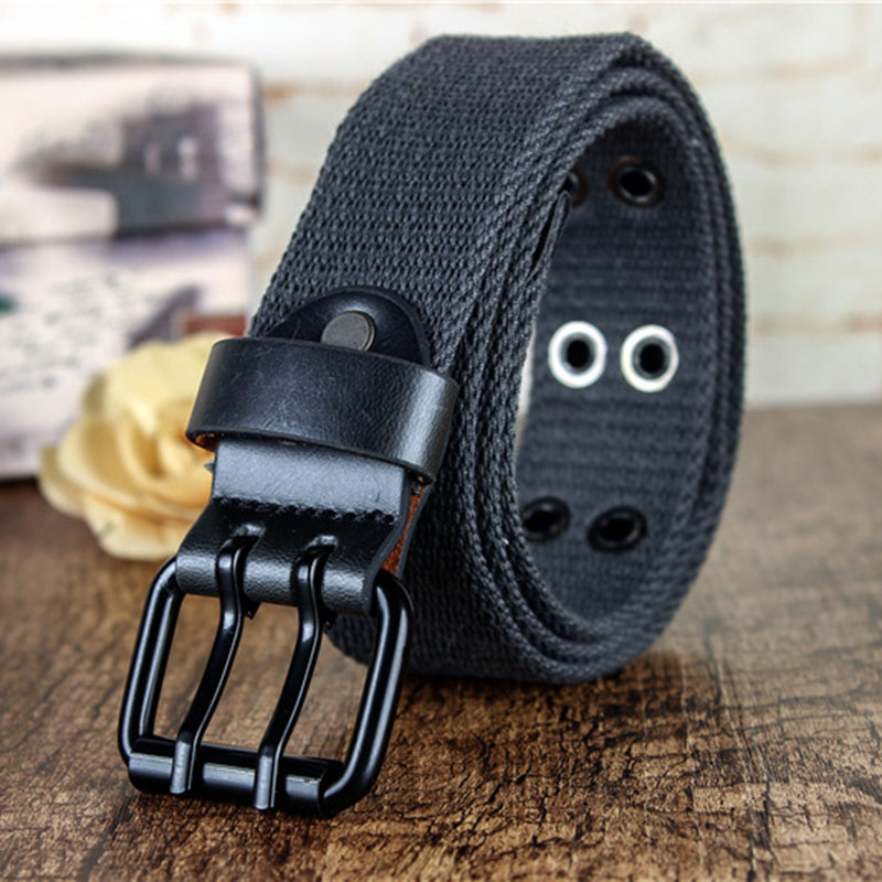 Hot Man Women 2 Pin Buckle Army Tactical Belt Military Canvas Belt Thicker Nylon Belts High Quality Solid Waistband Wide Strap