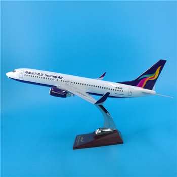 40cm Urumqi Airlines B737 aircraft model Boeing 737 airbus China air Urumqi airplane model scale aviation toys gifts ornaments