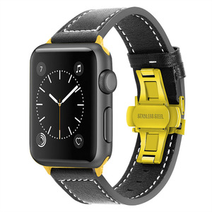 Image 5 - iWonow Leather Watchband for iWatch Apple Watch 38mm 40mm 42mm 44mm Series 5 4 3 2 1 Men Women Band Sports Strap Wrist Bracelet