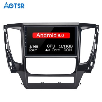 Android 9.0 Car Stereo Buit-in DSP 9 Touch Screen for Mitsubishi Pajero Sport 2017 1 Din 64G ROM 4G RAM Car Bluetooth image