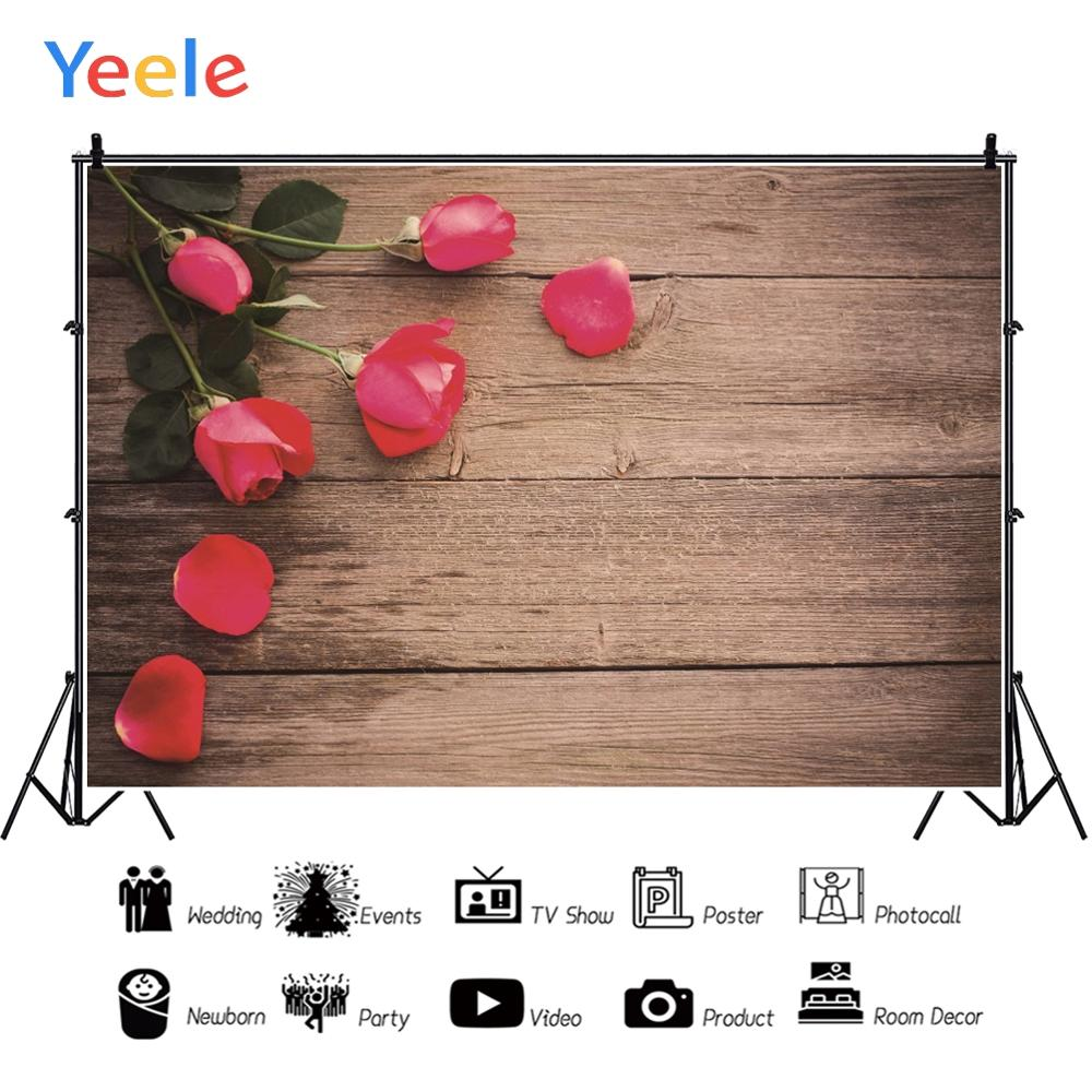 Yeele Wood Photocall Grunge Texture Roses Vintage Photography Backdrops Personalized Photographic Backgrounds For Photo Studio in Background from Consumer Electronics