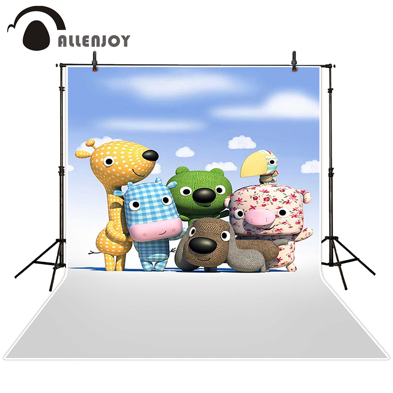 Allenjoy photographic background Children Toys Cartoon sky backdrops princess boy summer photocall 150x200cm