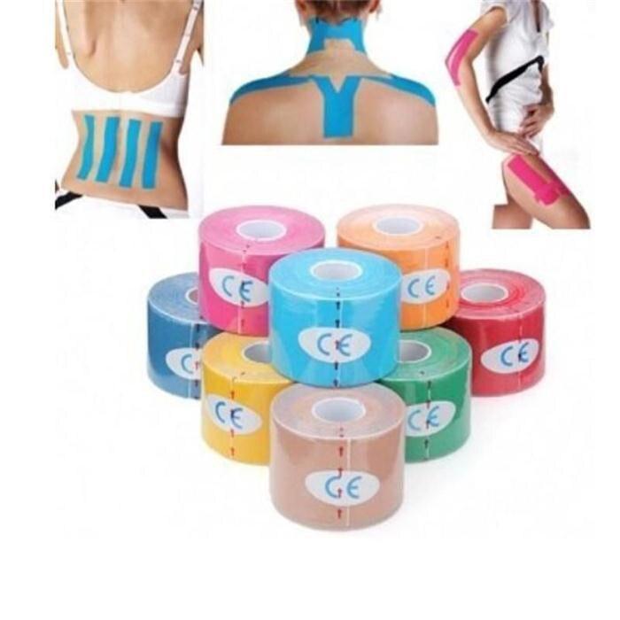 1 Roll 5mx5cm Sport Tape Cotton Elastic Adhesive Muscle Bandage Strain Injury Support Vendaje Neuromuscular