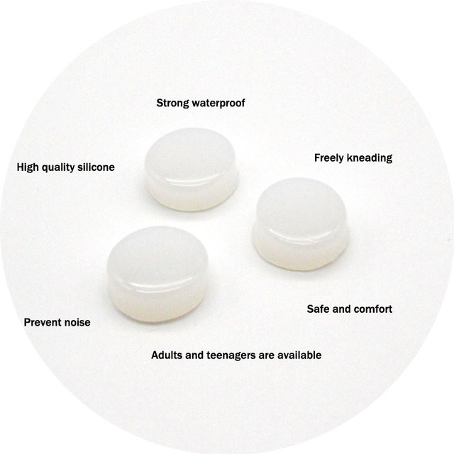 6Pcs Reusable Anti Noise Silicone Earplugs Aid Sleep Soft Earplugs Waterproof Swimming Earplugs Soundproof Ear Plugs Health Care