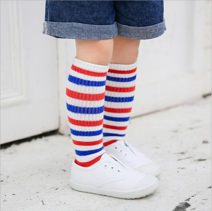New cotton kids socks autumn and winter three-dimensional cartoon smiley sport stripe knee-high boys girl socks children socks