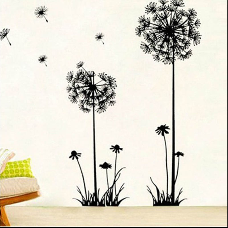 unid forma de diente de len pegatinas de pared arte decal sticker extrable diy mural