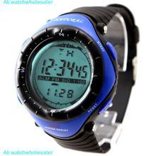 Мужские электронные часы с хронографом черным циферблатом и