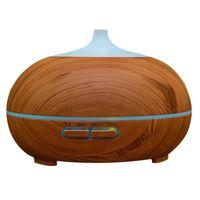 Grano de madera de Vapor Frío Por Ultrasonidos Humidificador Aroma Aceite Esencial Difusor Para Ministerio del interior Dormitorio Estudio Salón Spa Yoga 2017