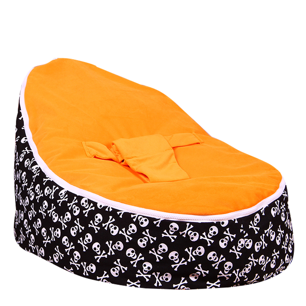 Levmoon Medium Skull Print Bean Bag Chair Kids Bed For Sleeping Portable Folding  Child Seat Sofa Zac Without The Filler #4