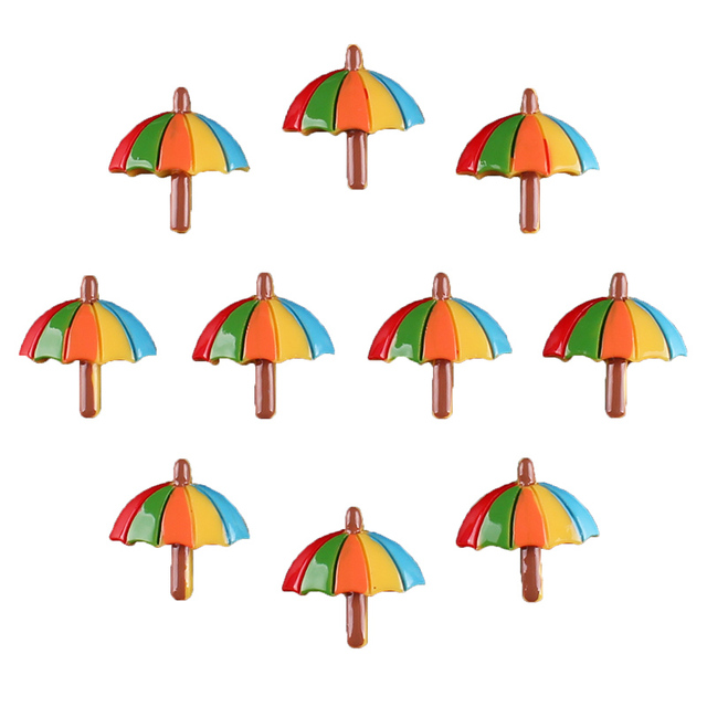 50 unids playa tropical Summer umbrella 3D flatback scrapbooking ...