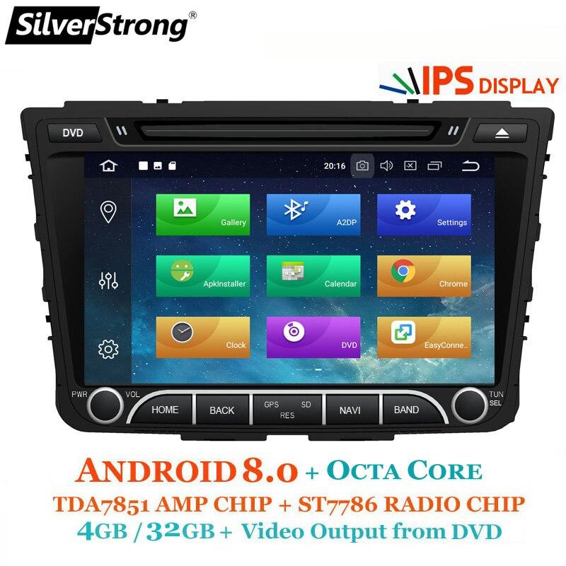 SilverStrong IPS Android8.1 4G 32G Auto DVD Per Hyundai Creta IX25 2014-18 2DIN DVD Radio di Navigazione opzione 2G16G/DSP/TPMS/DVR