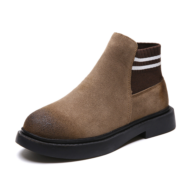 The new autumn 2018 Martin boots flat short tube with restoring ancient ways round head women's boots 57