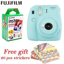 Fujifilm Instax Mini 9 Instant fuji Camera+ 20 sheets films Photo Camera Pop-up Lens Auto Metering Mini Printing Digital Camera