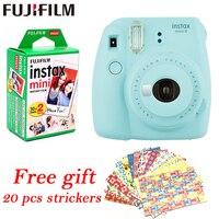 Fujifilm Instax Mini 9 Instant fuji Camera+ 20 sheets films Photo Camera Pop up Lens Auto Metering Mini Printing Digital Camera