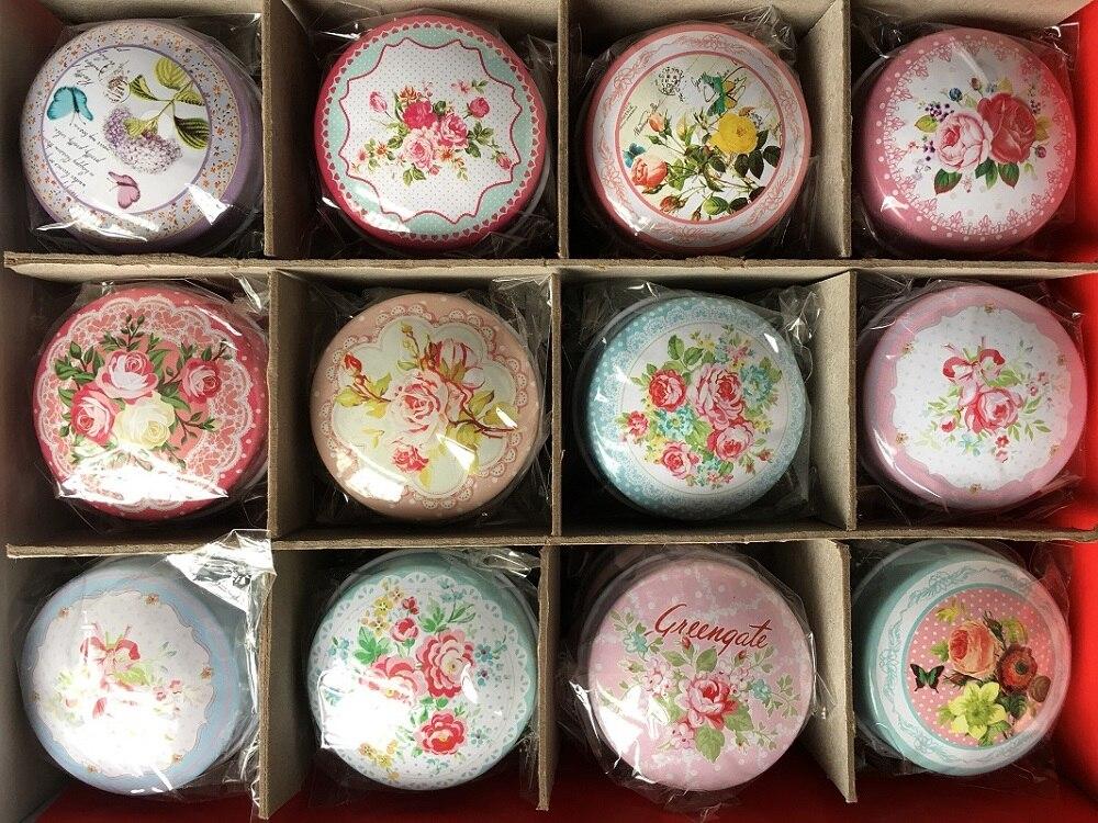 12pcs Designs Mixed Europe type MiNi iron box gift candy storage box wedding seal Jewelry Pill Cases tin box cable organizer