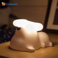 LumiParty LED Nachtlampje Touch Sensor Bureaulamp USB Supply Puppy Hond Tafellamp voor Bedside Woonkamer Baby Kinderen