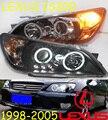 Автомобиль для укладки, Lexu IS200 фар, 1998 ~ 2005, Свободный корабль! Я Lexu IS200 туман, LED, 2 шт. + 2 шт. Aozoom Балласт, Lexu IS200 фара, 200