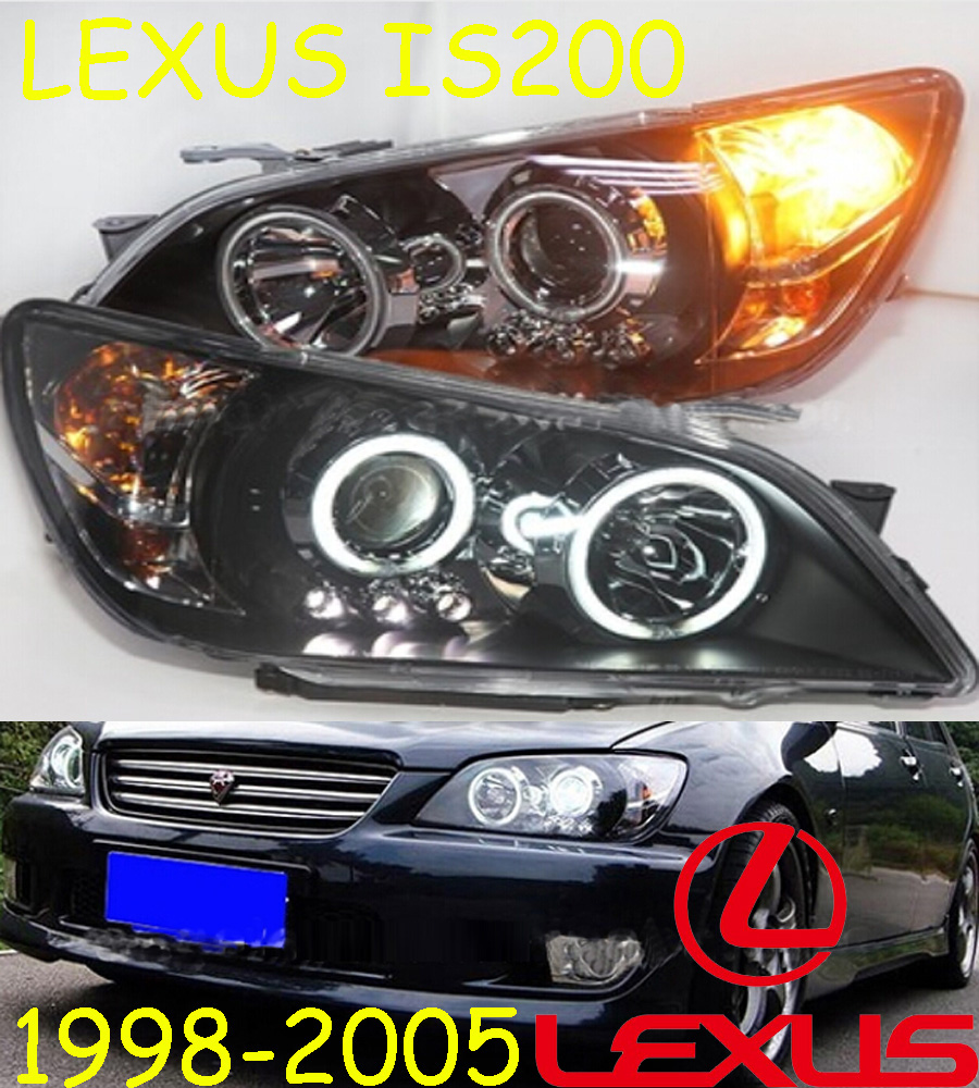 автомобиль-стайлинг,Lexu IS200 фара,1998~2005,свободный корабль!Я Lexu IS200 противотуманные,светодиодные,2шт+2шт балласт,IS200 фара Lexu,составляет 200