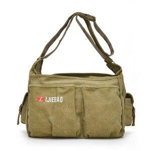 Image 1 - 2020 Fashion Teen Boys Shoulder Messenger Bag Canvas Lightweight Tote bag Large Capacity Travel Crossbody Bag Bolsa Sac A Main
