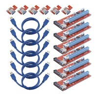 6 Sets 15 Pin PCI E Express 1x To 16x Extend Cord For BTC Miner Machine