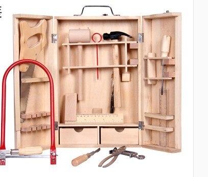 Kit de réparation de Simulation de haute qualité pour enfants cadeau en bois pour enfants jouets de jeu en bois cadeau pour garçons