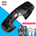 Aotu durável real butterfly buckle strap para rado cerâmica pulseira de aço inoxidável 6020 faixa de relógio 22mm homem 14mm mulher + ferramenta gratuita