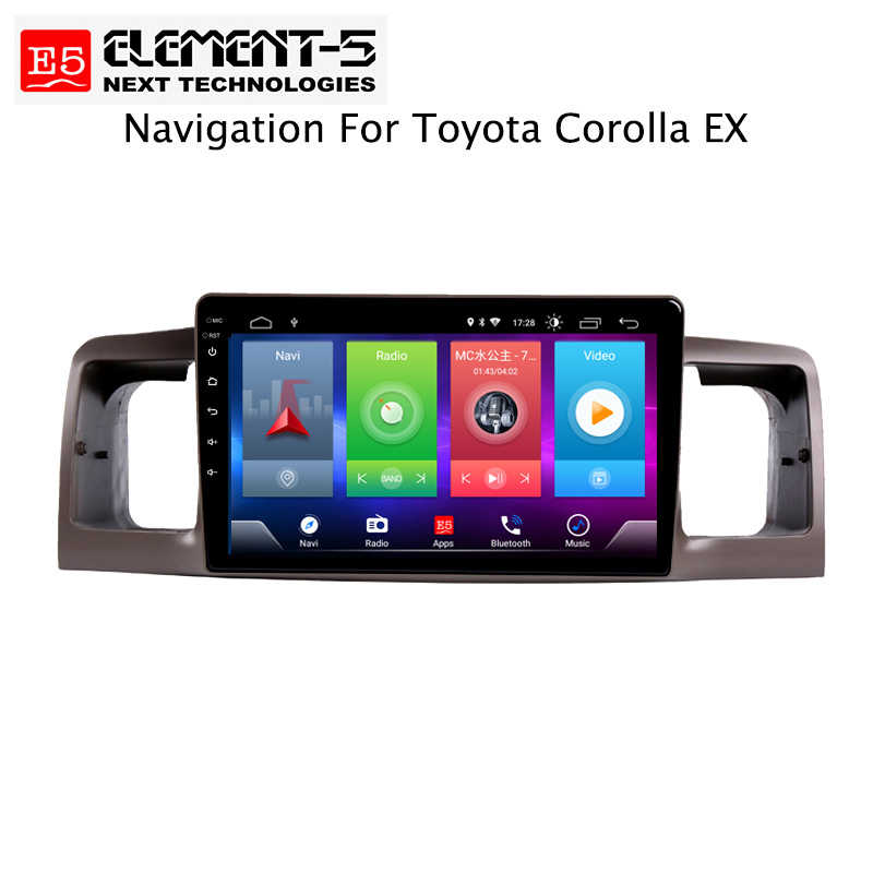Car Android 8.1 Multimedia Player for TOYOTA Corolla ex 2006 GPS Navigation Device USB bluetooth steering wheel control support