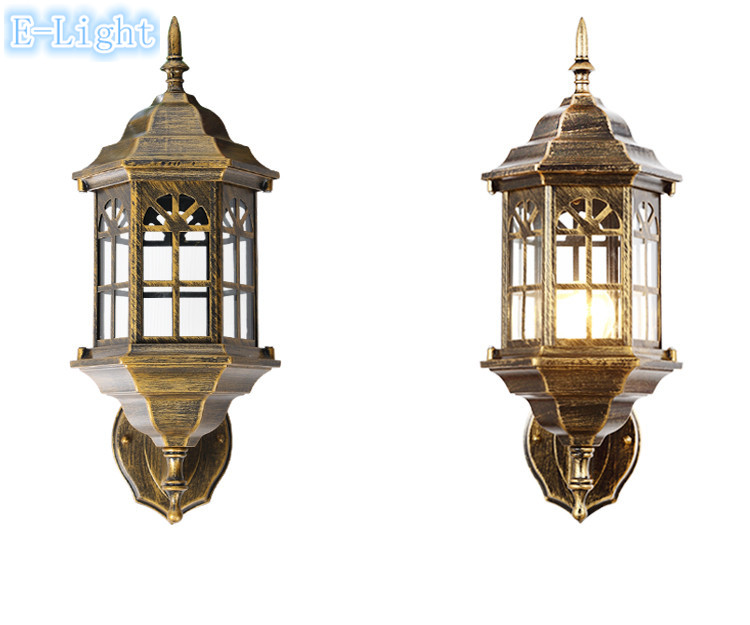 Wall Lights For Old Cottage : Vintage Cottage Porch Lights Waterproof Garden Lamp Aluminum alloy Glass Body Use E27 Led Bulbs ...