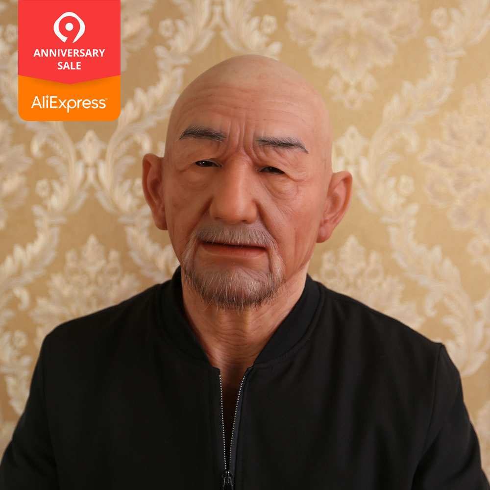 EYUNG Old William good quality realistic silicone masks old man masquerade for April Fool s Day