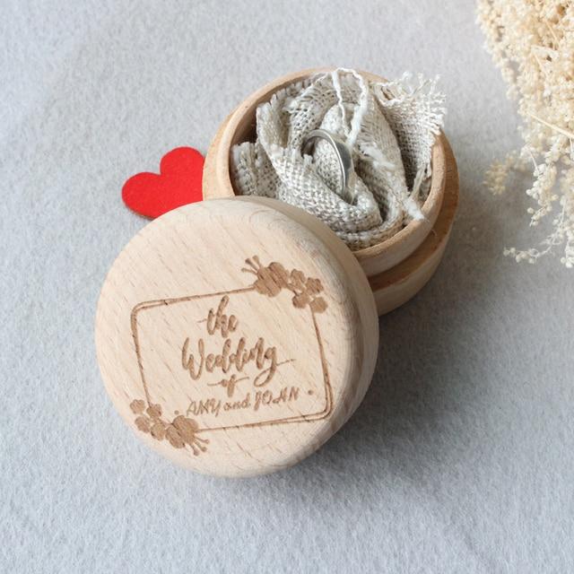 Wooden Wedding Ring BoxRustic Engagement Ring BoxWedding Ring