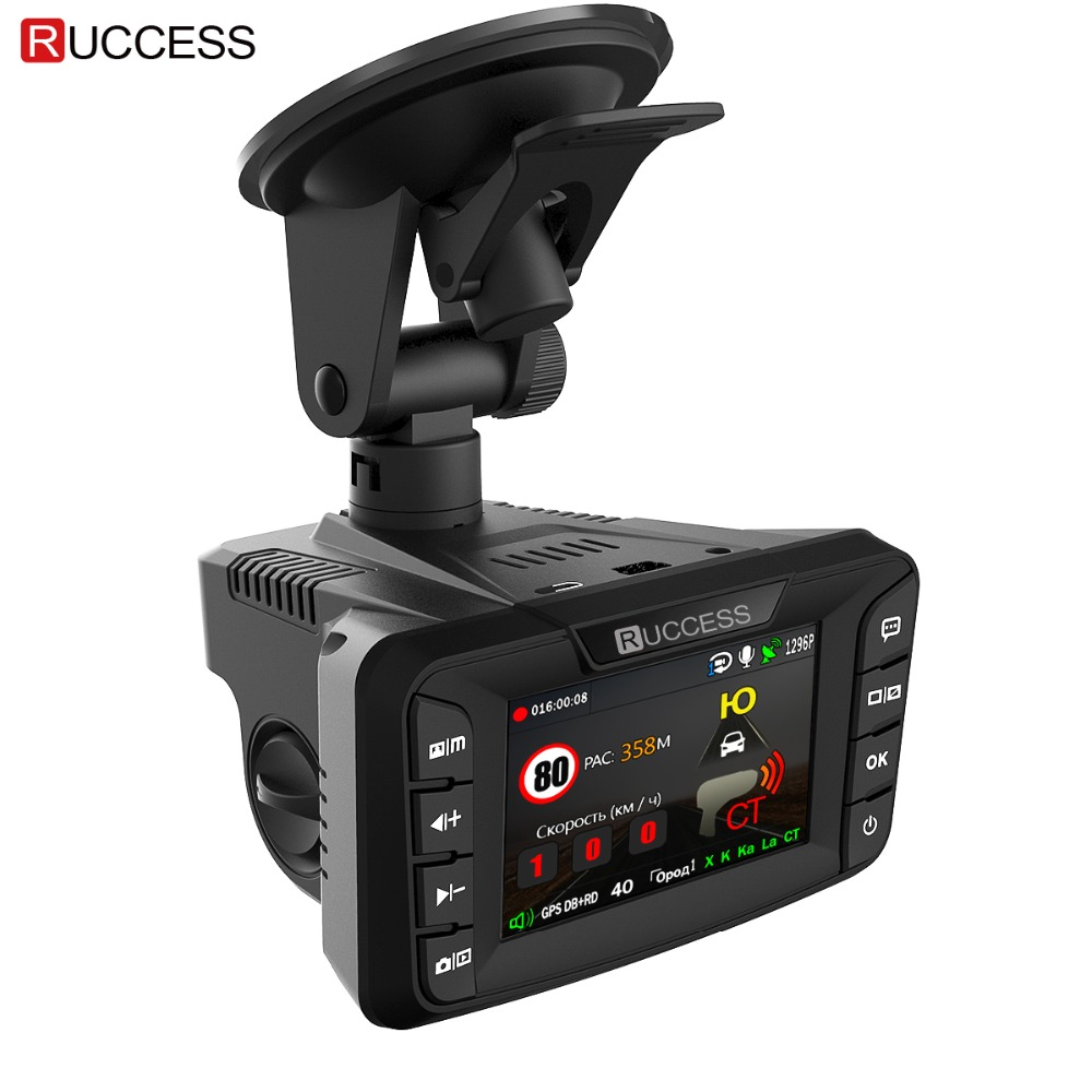Ruccess CAR DVRs 2 7 DVR 3 in 1 Radar Detector with GPS for Russian Speedcam