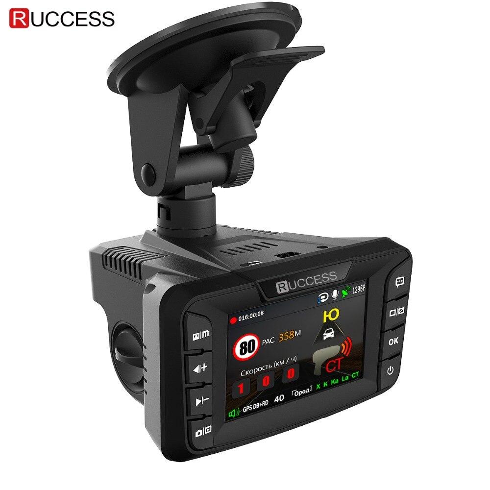 Ruccess voiture DVRs 2.7 DVR 3 en 1 détecteur de Radar avec GPS pour russe Speedcam Anti Radar Full HD 1080P voiture enregistreur caméra de tableau de bord