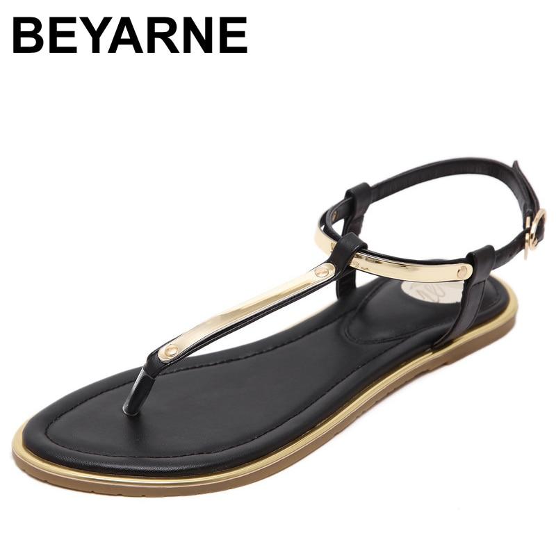 BEYARNE Women Sandals 2017 New Summer sequin Sandals Flip Flops size 33 to 43 Shoes Flat SandalBEYARNE Women Sandals 2017 New Summer sequin Sandals Flip Flops size 33 to 43 Shoes Flat Sandal