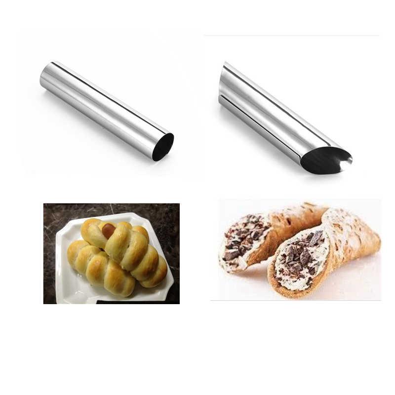 Cones De Aço inoxidável Espiral Tubos Chifre Pastelaria Croissant Pão Cozido Rolo Ferramentas De Decoração Da Cozinha FORME CANNOLI