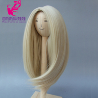 Natural Color Soft Straight Synthetic Hair Wig For 1 3 1 4 1 6 BJD Doll