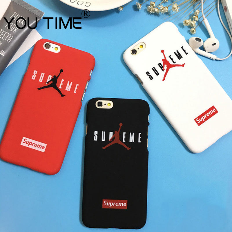 YOUTIME AJ New Coque Logo Sole All suprem Protective Cover for iPhone 7 plus 6 6S AJ Jumpman plastic high quality anti-knock