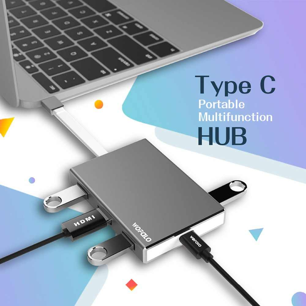 Wofalo Type C To HDMI Adapter For Samsung Galaxy S9/S9 Plus/S8 Plus/Note  8/Nintendo Switch/MacBook Pro Type C To HDMI Convert