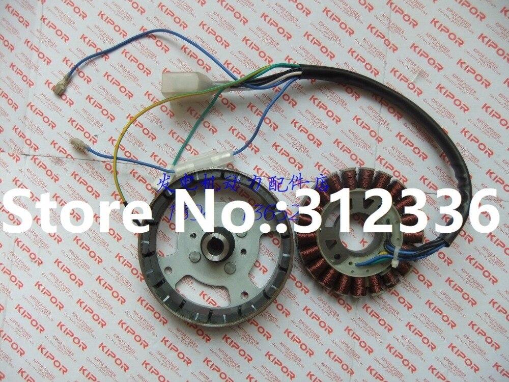 Быстрая доставка 230 В/50 Гц IG1000 статора ротор катушки инвертор генератор Монтажный набор для kipor Кама