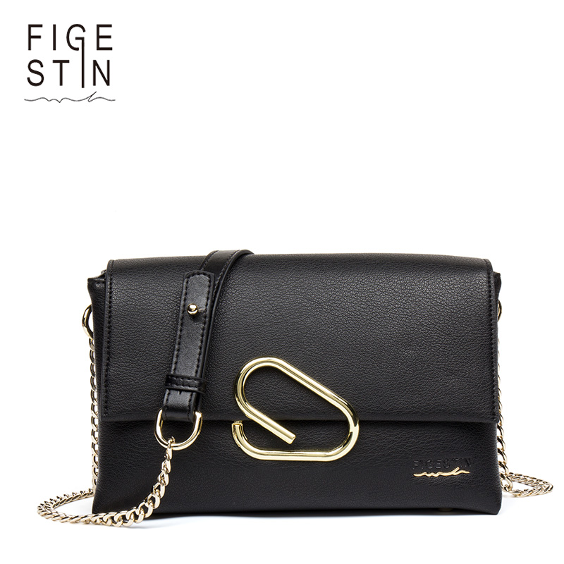 FIGESTIN Women Shoulder Bags Chains Crossbody Bag Women Messenger Bags Ladies Evening Small Flap Bag Sac A Main Femme De Marque