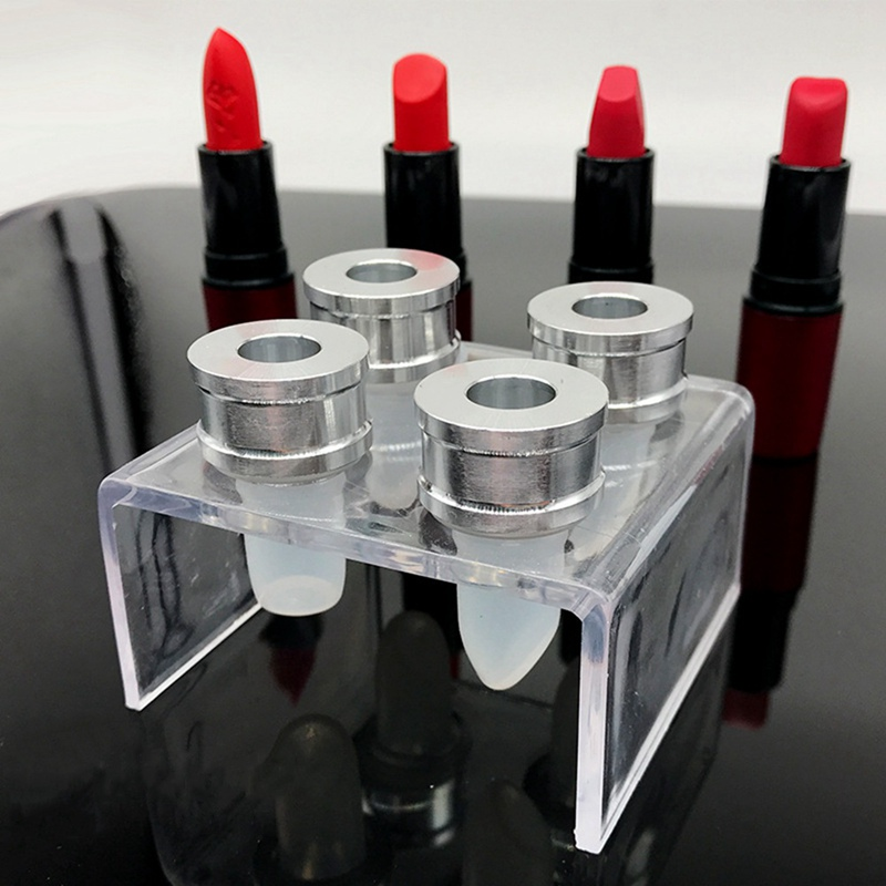 Clear Lipstick Mould Holder Lip Balm Mold Stand Acrylic Six Holes Shelf 1 Pc
