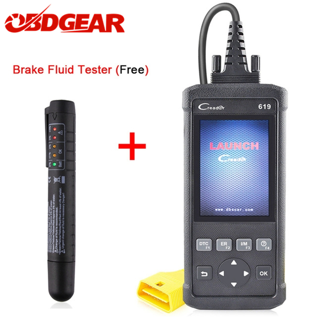 Flash Promo Original Launch CReader 619 OBD 2 Automotive Scanner Full OBD2 EOBD Functions CR619 Diagnstic Tool Better Then Autel AL619