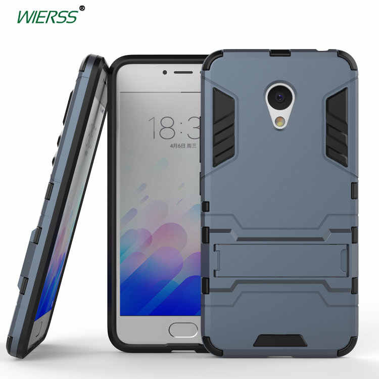 3D Shockproof Stand Hard Case untuk Meizu MX6 Pro 6 6S M3S M3 Mini Pro Prime Lim Combo Armor case Shell Back Cover