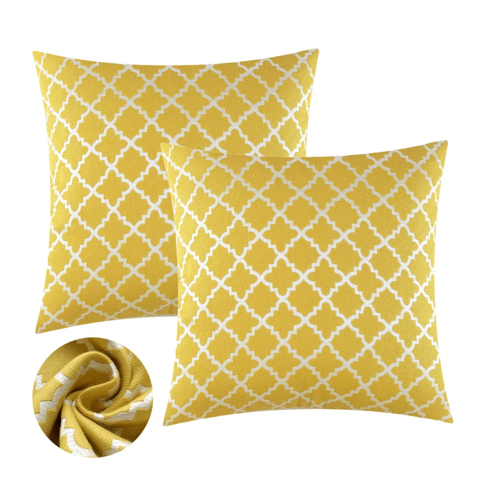 Decorative Cushions Covers For Sofa Couch Bed Yellow Blue Throw Pillows Covers Cases Modern Luxury Soft <font><b>Pillowcases</b></font> 45x45 <font><b>50x50</b></font> image