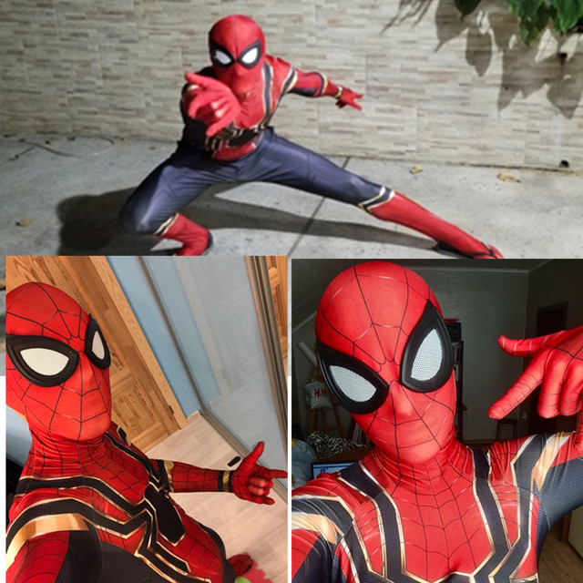 เด็ก Spiderman Homecoming ชุดคอสเพลย์เหล็ก Spiderman Far From Home ชุด Jumpsuits