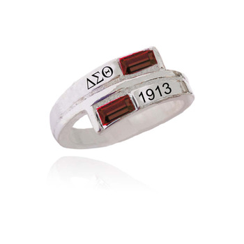 Topvekso Greece Greek Sorority Delta Sigma Theta custom greek Dst letter Finger Ring Jewelry