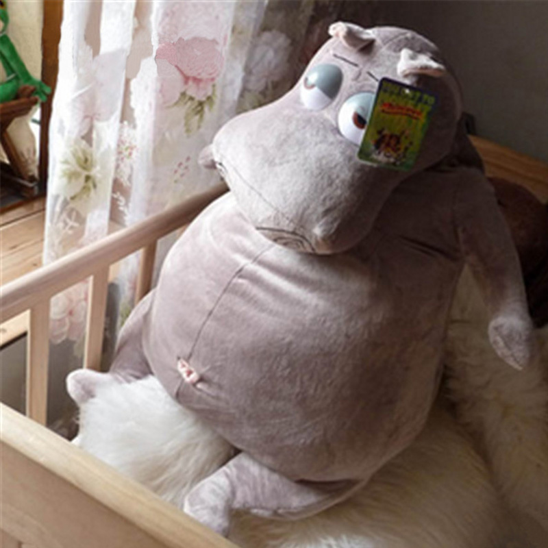 Fancytrader Giant Animal Hippo Plush Toy Stuffed Soft Fat Cute Cartoon Hippo Pillow Doll 60cm 24inch Kids Present цена и фото