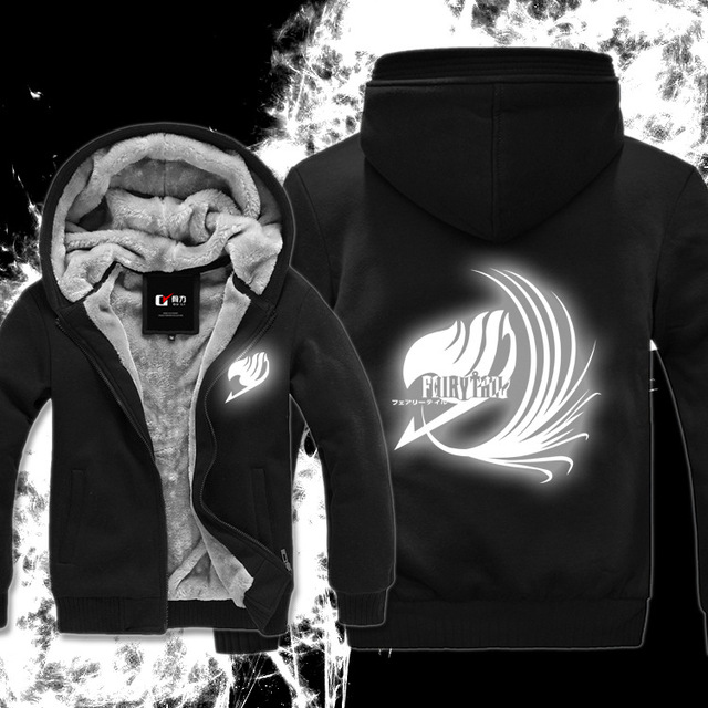 Fairy Tail Luminous Zipper Coat Hoodie